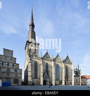 Kirche St. Marien, St. Mary's Church, market square, Osnabrück, Lower Saxony, Germany - Stock Photo