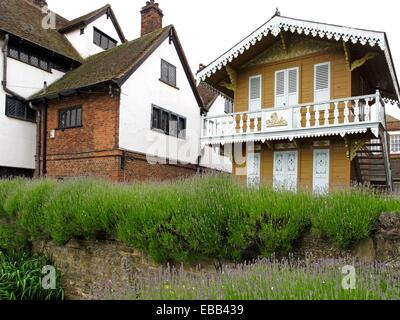 1865 1870 architecture balcony British Isles building built structure chalet Charles Dickens city color image day - Stock Photo