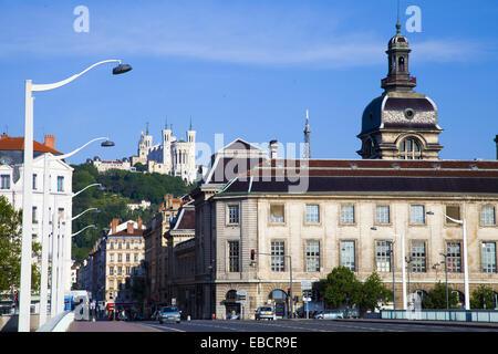 Notre-Dame de Fourvire France, Rhone-Alpes, Lyon. - Stock Photo