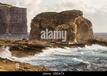 Fungus Rock, Gozo island, Malta. - Stock Photo