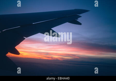 airfoil of passenger aircraft, Spain, Jan 02. - Stock Photo