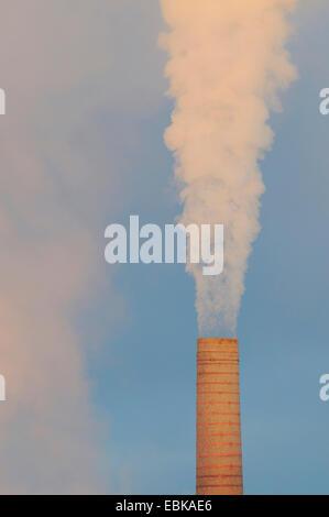 smoking chimney, Germany - Stock Photo