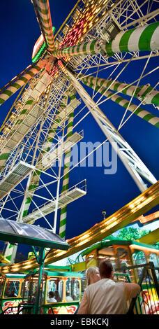 big wheel on the Cranger fair, Germany, North Rhine-Westphalia, Ruhr Area, Herne - Stock Photo