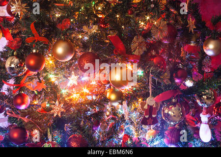 Inside the Christmas Tree - Stock Photo