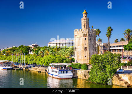 Torre del Oro in Seville, Spain. - Stock Photo