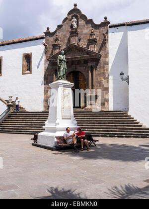 Iglesia Matriz de El Salvador in Plaza de España, Santa Cruz de La Palma, Palma de Majorca, Canary Islands, Spain - Stock Photo