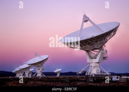 radio telescopes in Socorro, USA, New Mexico, San Augustin - Stock Photo