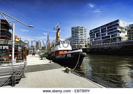 Sandtorhafen in HafenCity, Germany, Hamburg - Stock Photo