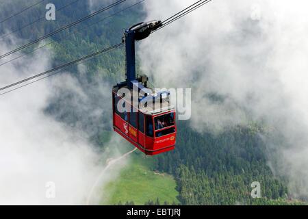 cable car to Pilatus mountain, Switzerland - Stock Photo