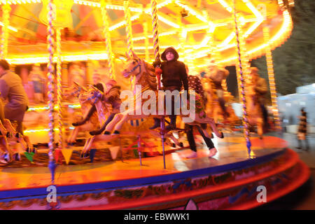 Lincoln, UK. 4th December 2014. Crowds enjoying the famous Christmas Market in the old City Centre. Credit:  d-mark/Alamy - Stock Photo