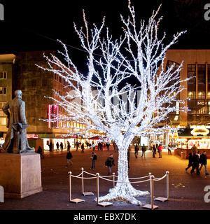 Lichtwochen (weeks of illuminations) in Essen, Germany, North Rhine-Westphalia, Ruhr Area, Essen - Stock Photo