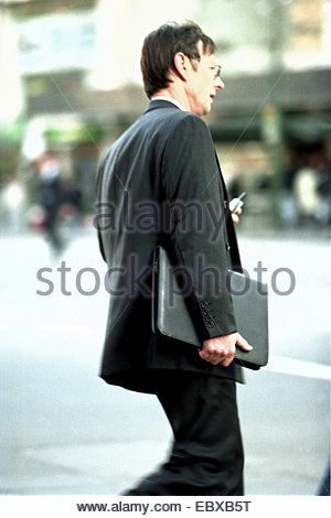 business man in hurry - Stock Photo