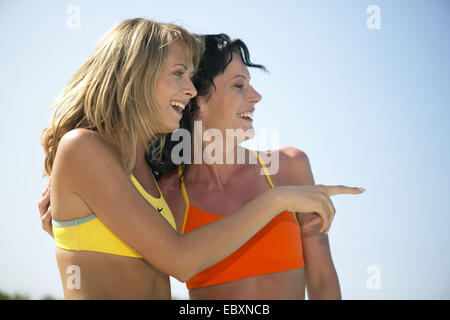 two young women on sommer holiday - Stock Photo