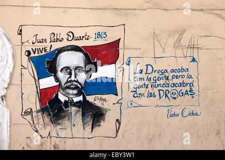 Dominikanische Republik, Santo Domingo, Zona Colonial, Graffiti, - Stock Photo