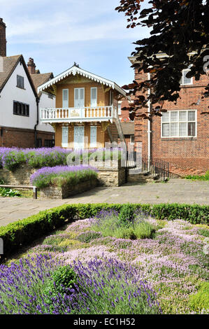 the Swiss Chalet, in which Charles Dickens wrote, in the grounds of Eastgate House, rochester, Kent. Transferred - Stock Photo
