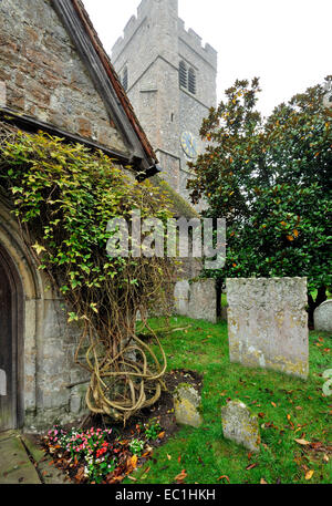 Dickens - graveyard at Shorne Parish church, near to Charles Dickens's Gad's Hill home, and in which the English - Stock Photo