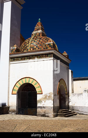 Small chapel beside the Basilica of Our Lady of Copacabana in Copacabana, Bolivia - Stock Photo