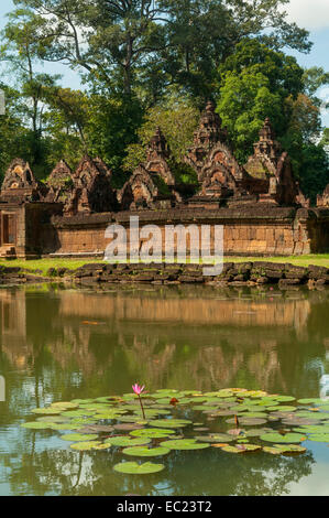 Temple of Banteay Srei, near Siem Reap, Cambodia - Stock Photo
