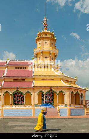 Cao Dai Holy See Temple, Tay Ninh, Vietnam - Stock Photo