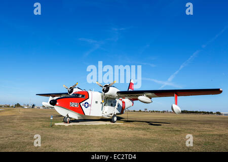 US Coast Guard Grumman HU-16E Albatross at the USS Alabama Battleship Memorial Park, Mobile, Alabama, USA - Stock Photo