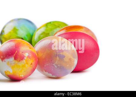 Easter eggs arranged in a circle. - Stock Photo