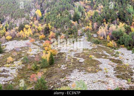 mountains in autumn in Andorra La Vella - Stock Photo