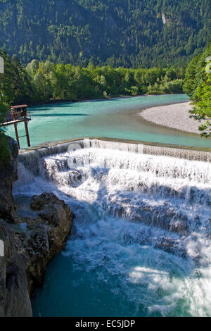 Lechfall near Füssen, Allgäu, Bavaria, Germany, Europe - Stock Photo