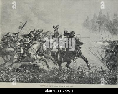 Charge of French Cuirassiers - Stock Photo
