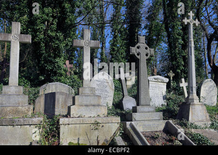 united kingdom north london highgate cemetery east - Stock Photo