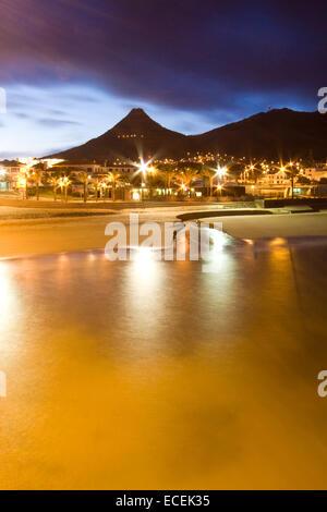 Vila Baleira in Porto Santo island by the evening - Stock Photo