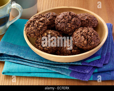 Chocolate oat pillows - Stock Photo
