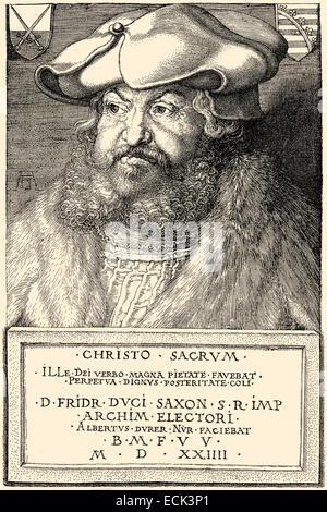 Frederick III or Frederick the Wise, 1463 - 1525, Elector of Saxony,  Friedrich III.oder Friedrich der Weise, 1463 - Stock Photo