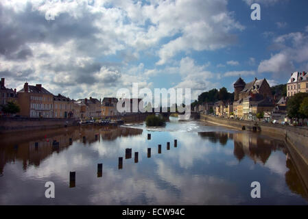 Chateau Gontier, Mayenne, France - Stock Photo
