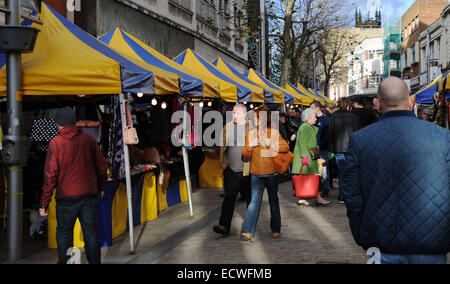 Wolverhampton, UK. 20th Dec, 2014. Shoppers out in force in Wolverhampton city centre on 'Panic Saturday' - Stock Photo