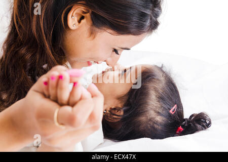 indian Mother Child Care - Stock Photo