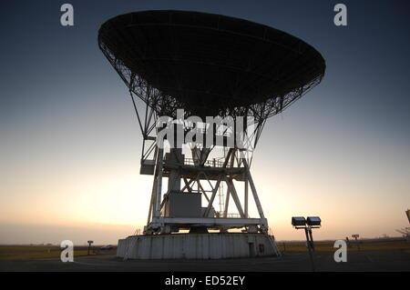 Radiotelescope: Radioastronomy station in Medicina, Italy a part of European Very Long Baseline Interferometry Network - Stock Photo