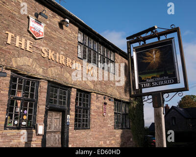 The Skirrid Inn Pub , dating from about 1100, Llanvihangel Crucorney, Abergavenny reputed to be the oldest pub in - Stock Photo