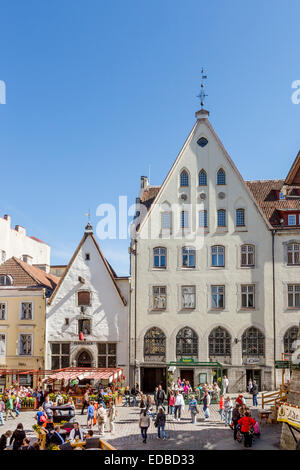 Old market Varna trug, at the Viru street in the old town, Tallinn, Estonia - Stock Photo