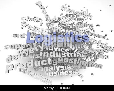 3d imagen Logistics  issues concept word cloud background - Stock Photo