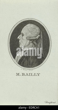 Portrait of Jean Sylvain Bailly, 1736 - 1793, a French astronomer, mathematician, freemason, and political leader - Stock Photo