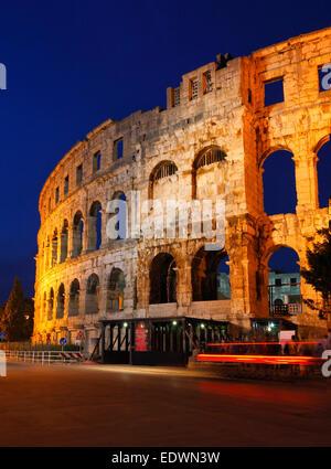 Pula Amphitheater, Arena - Croatia - Istria - Stock Photo