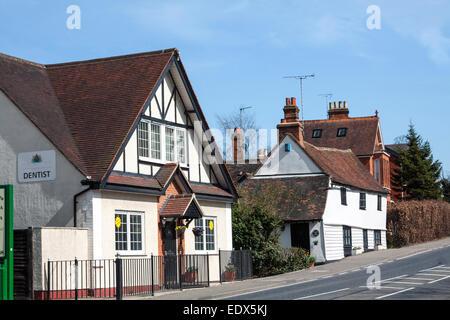 Beautiful countryside English houses - Stock Photo
