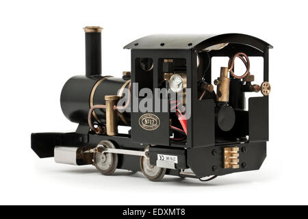 Rare No 12 'Ivor' live steam radio-controlled 0-4-0 garden railway (G-scale) tank locomotive by Cheddar Models Ltd, - Stock Photo