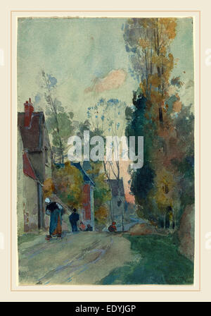 Auguste Lepère, French (1849-1918), Rue de Jouy le Comte, probably 1880, watercolor - Stock Photo