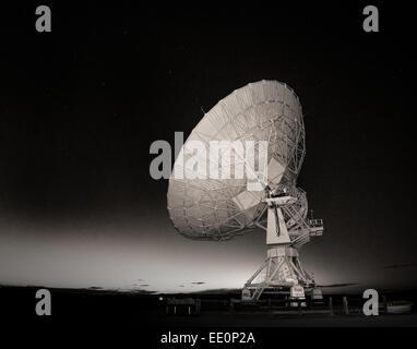 Radio Telescope at the Very Large Array near Socorro, New Mexico USA - Stock Photo