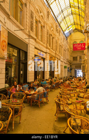 Pasajul Macca-Vilacrosse arcade, Bucharest, Romania - Stock Photo