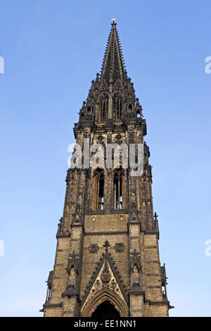 Deutschland, Hamburg, Nikolaikirche, Kirchturm, Norddeutschland, Hansestadt, Kirche St,  Nikolai, Kirchenruine, - Stock Photo
