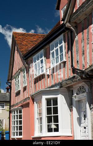 UK England, Suffolk, Lavenham, Barn Street, Old Grammar School, where Constable was pupil - Stock Photo