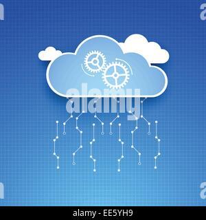 Cloud theme vector background. Eps 10 - Stock Photo