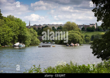 UK, London, Richmond from River Thames at Ham House - Stock Photo